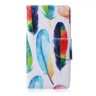Недорогие Чехлы и кейсы для Galaxy A5-Кейс для Назначение SSamsung Galaxy A5 / A3 Бумажник для карт / со стендом / Флип Чехол Перья Кожа PU