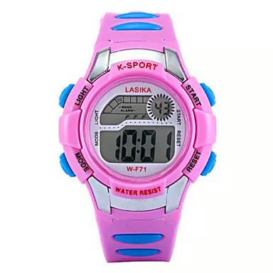 Infantil Relógio Esportivo Digital LCD Plastic Banda Preta Preto Vermelho Rosa claro