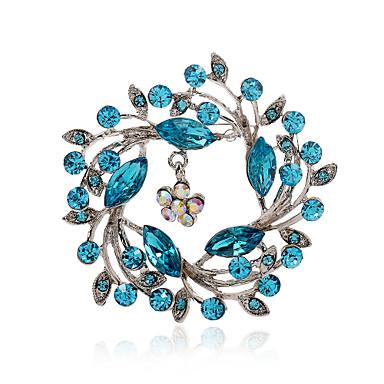 Dames Luxe Modieus Europees Strass Gesimuleerde diamant Legering Paars Roze Navy Lichtblauw Sieraden Voor Feest Dagelijks Causaal
