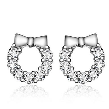 Oorknopjes Sterling zilver Strass Zilver Sieraden Voor Bruiloft Feest Dagelijks 2 stuks