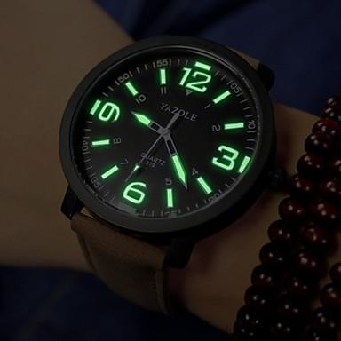 Homens Quartzo Relógio de Pulso / Relógio Militar Relógio Casual PU Banda Amuleto Preta / Marrom