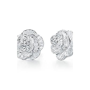 Oorknopjes Sterling zilver Zirkonia Bloemvorm Wit Sieraden Voor Bruiloft Feest Dagelijks Causaal Sport 1 stuks