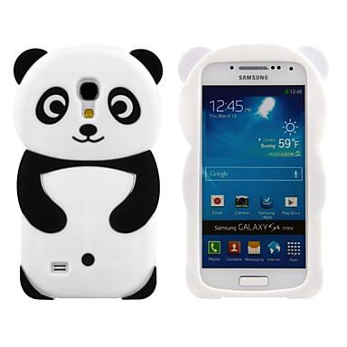 warm te koop mooie 3d dier gevormde panda silicium zachte mobiele telefoon geval dekking terug skin voor Galaxy S4 mini / s3min