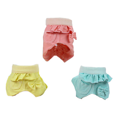 Cachorro Calças Roupas para Cães Fashion Sólido Amarelo Verde Rosa claro Ocasiões Especiais Para animais de estimação