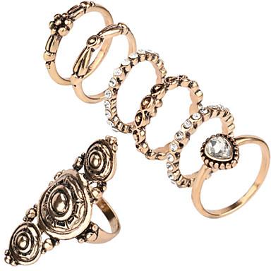 Herrn Damen Ring Acryl Gold Acryl Zinklegierung Kreisförmig Kreisform Geometrische Form Tropfen Einzigartiges Design Retro Böhmische