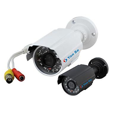 yanse® 1000tvl 3,6 milímetros de alumínio de metal câmera d / n CCTV IR 24 levou a segurança 6624cf com fio à prova d'água