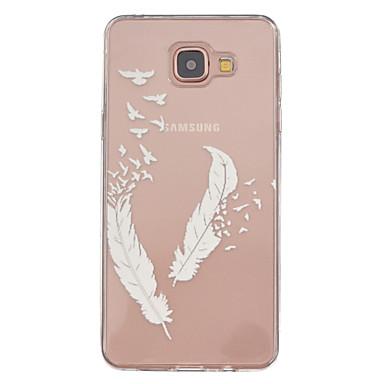 Voor Samsung Galaxy hoesje Hoesje cover Transparant Patroon Achterkantje hoesje Veren TPU voor Samsung Galaxy A5(2016) A3(2016)