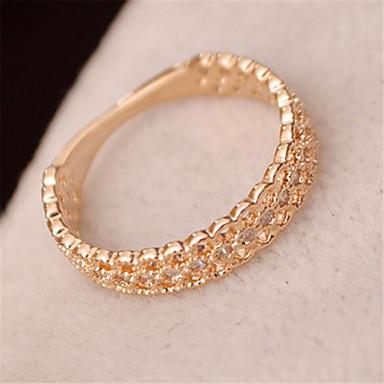 Anéis Fashion Pesta Jóias Feminino Anéis Grossos 1pç,Tamanho Único Dourado