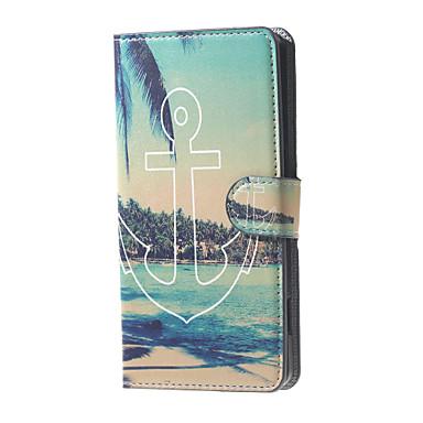 ancorar vista de padrão caso estande carteira de couro da aleta beira-mar com slot para cartão de microsoft lumia 650