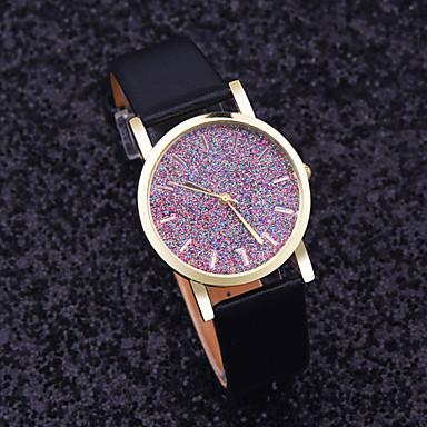 Dames Modieus horloge Kwarts PU Band Zwart Wit Groen Roze