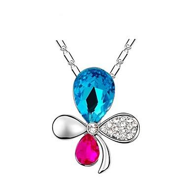 Feminino Colares com Pendentes Cristal Liga Roxo Rosa Azul Jóias Para Casamento Festa Diário Casual 1peça
