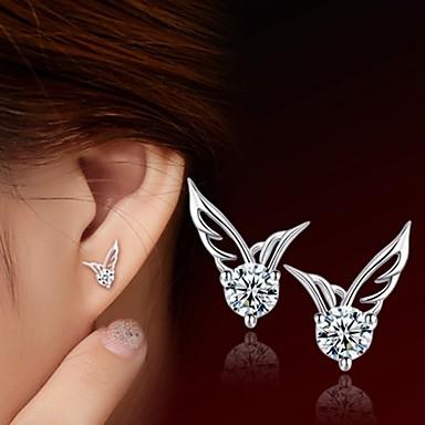 Dames Oorknopjes Sterling zilver Zirkonia Zilver Sieraden Bruiloft Feest Dagelijks Causaal Sport Kostuum juwelen