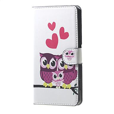 amor da coruja família padrão carteira aleta de couro ficar caso com slot para cartão de microsoft lumia 650