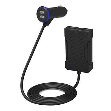 poweriq 아이폰 / 아이 패드 / 삼성 / 화웨이 등을위한 36w 지능형 4 포트 여객 자동차 충전기 블랙 5V / 7.2a