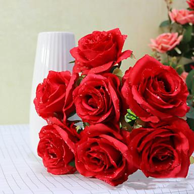 Tak Polyester Rozen Bloemen voor op tafel Kunstbloemen