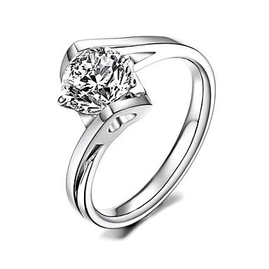 Ringen Feest / Dagelijks / Causaal Sieraden Verzilverd Dames Statementringen 1 stuks,8 Zilver