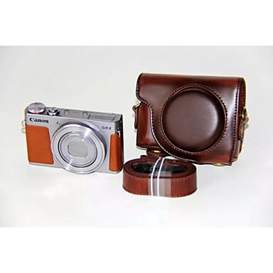 dengpin® pu bolsa de câmera caso couro cubra com alça de ombro para Canon PowerShot G9 x (cores sortidas)