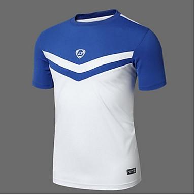 Homens Camiseta de Trilha Resistente Raios Ultravioleta Respirável Macio Materiais Leves Redutor de Suor Suavidade Camiseta Blusas para