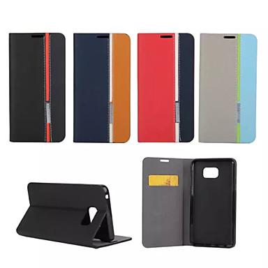 Недорогие Чехлы и кейсы для Galaxy Note 4-Кейс для Назначение SSamsung Galaxy Note 5 / Note 4 / Note 3 Бумажник для карт / со стендом / Флип Чехол Полосы / волосы Кожа PU
