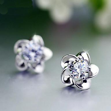 Σκουλαρίκι Flower Shape Κουμπωτά Σκουλαρίκια Κοσμήματα Πετράδια σχετικά με τον μήνα γέννησης