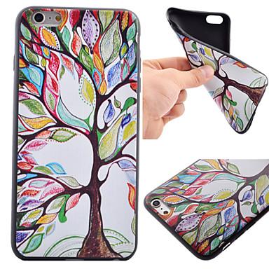 teste padrão colorido da árvore TPU preto caixa do telefone estojo para iphone 6 Plus / 6s mais