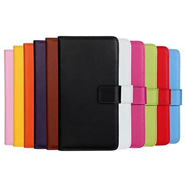Voor Samsung Galaxy hoesje Kaarthouder / met standaard / Flip / Magnetisch hoesje Volledige behuizing hoesje Effen kleur PU-leer Samsung