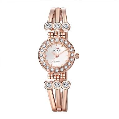 Mulheres Relógio de Moda Bracele Relógio Quartzo Lega Banda Elegant Dourada