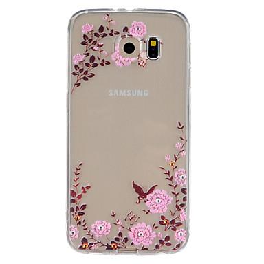Para Samsung Galaxy Capinhas Case Tampa Com Relevo Capa Traseira Capinha Flor PUT para Samsung Galaxy S6 edge plus S6 edge S6 S5