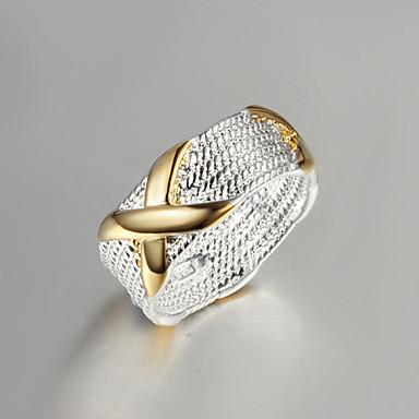 Ringen Modieus Feest Sieraden Verguld Dames Bandringen 1 stuks,One-Size Gouden