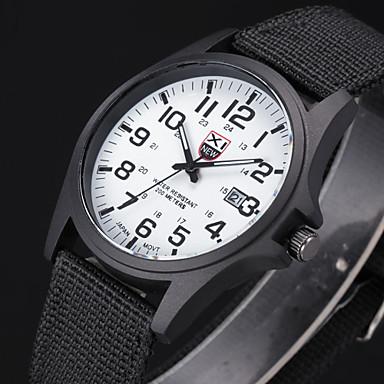 זול שעוני גברים-בגדי ריקוד גברים שעונים צבאיים שעון יד שעון שדה קווארץ שחור / לבן / חום אנלוגי אריסטו פשוט לצפות - ירוק כחול לבן שחור שנה אחת חיי סוללה / מתכת אל חלד / SSUO 377