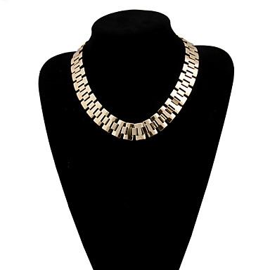 Feminino Gargantilhas colares em camadas Liga Multi Camadas Dourado Jóias Para Casamento Festa Diário Casual 1peça