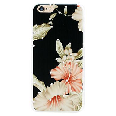 pendurar economias da flor shell telefone diamante relevos pintados para iphone6 / 6s