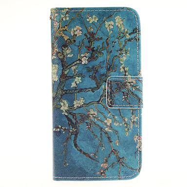 Para Samsung Galaxy S7 Edge Porta-Cartão / Carteira / Com Suporte / Flip Capinha Corpo Inteiro Capinha Árvore Couro PU SamsungS7 edge /