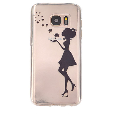 Voor Samsung Galaxy S7 Edge Hoesje cover Reliëfopdruk Achterkantje hoesje Paardebloem TPU voor Samsung Galaxy S7 plus S7 edge plus S7