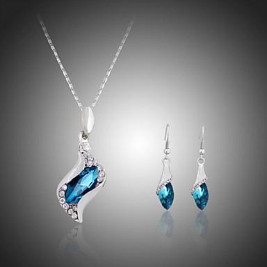 Γυναικεία Κρυστάλλινο Στρας Επάργυρο Προσομειωμένο διαμάντι Κοσμήματα Σετ Cercei Κολιέ - Χαριτωμένο Πάρτι χαριτωμένο στυλ Μοντέρνα Φούξια