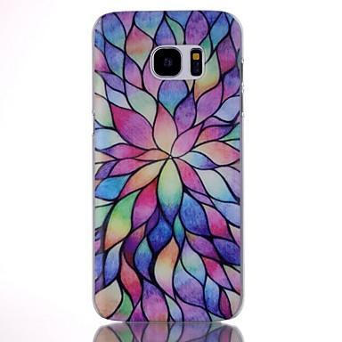 Para Samsung Galaxy S7 Edge Estampada Capinha Capa Traseira Capinha Padrão Geométrico PC Samsung S7 edge / S7