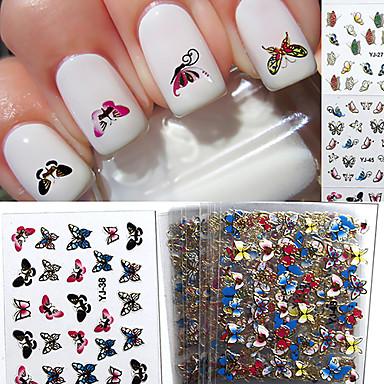 24pcs Etiquetas de unhas 3D Modelo de estampa de unhas Diário Fashion Adorável