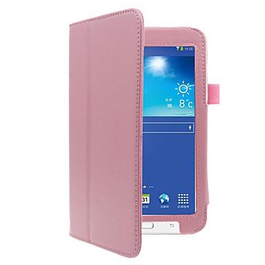 чехол для галактики Samsung полный корпус чехлы для планшетов твердая цветная твердая кожа pu для вкладки 3 lite t110