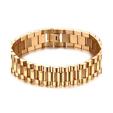 Heren Armbanden met ketting en sluiting Roestvast staal Verguld Sieraden Kerstcadeaus Feest Dagelijks Causaal Sport Kostuum juwelen Gouden