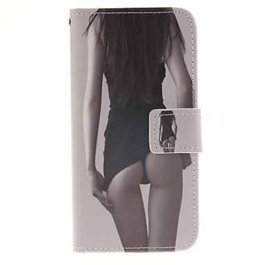 Voor Samsung Galaxy S7 Edge Portemonnee / Kaarthouder / met standaard / Flip hoesje Volledige behuizing hoesje Sexy dame PU-leer Samsung