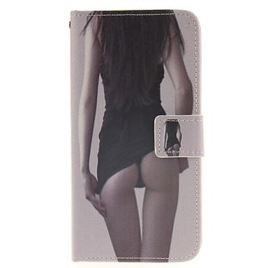 Para Samsung Galaxy Capinhas Porta-Cartão / Com Suporte / Flip / Estampada / Magnética Capinha Corpo Inteiro Capinha Mulher SensualCouro