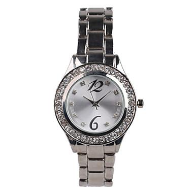 Mulheres Relógio de Moda Impermeável Quartzo Lega Banda Prata