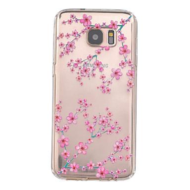 Para Samsung Galaxy S7 Edge Case Tampa Com Relevo Capa Traseira Capinha Flor PUT para Samsung Galaxy S7 edge S7