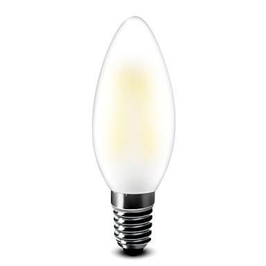 E14 Lâmpadas de Filamento de LED T 6 COB 6001 lm Branco Quente 2700 K AC 220-240 AC 12 V