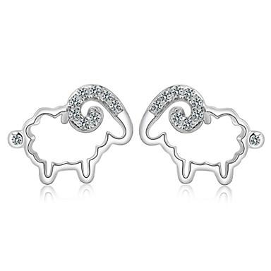 Dames Oorknopjes Birthstones Geboortestenen Sterling zilver Zilver Sieraden Bruiloft Feest Dagelijks Causaal Sport Kostuum juwelen
