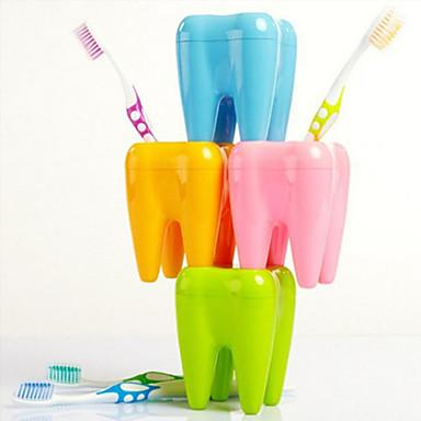 tanden vorm tandenborstel houder 4 raster stand rack plank beugel container willekeurige kleur