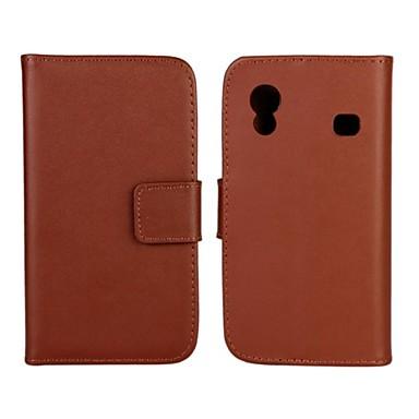 케이스 제품 Samsung Galaxy 삼성 갤럭시 케이스 카드 홀더 지갑 스탠드 플립 전체 바디 케이스 한 색상 PU 가죽 용 Ace