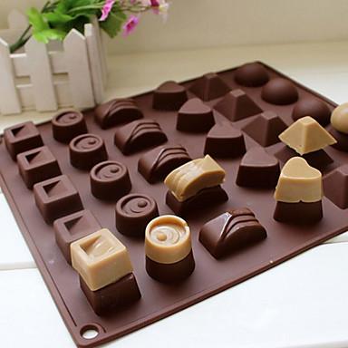 1 Cozimento Alta qualidade Chocolate / Gelo Silicone Ferramentas para Forno e Pastelaria