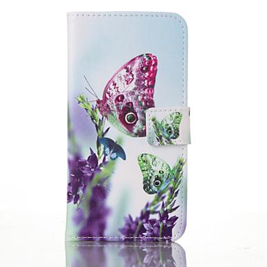 Mert Samsung Galaxy S7 Edge Kártyatartó / Pénztárca / Állvánnyal / Flip / Minta Case Teljes védelem Case Pillangó Műbőr SamsungS7 plus /