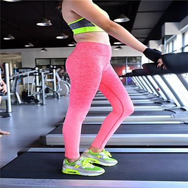 Mulheres Leggings de Corrida Secagem Rápida Respirável Elástico Redutor de Suor Calças para Ioga Exercício e Atividade Física Corridas